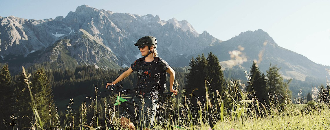 Bike holidays at the Übergossene Alm Resort